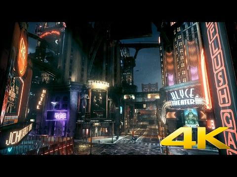 Batman: Arkham Knight - Entertainment District - DreamScene [Live Wallpaper] - 4K