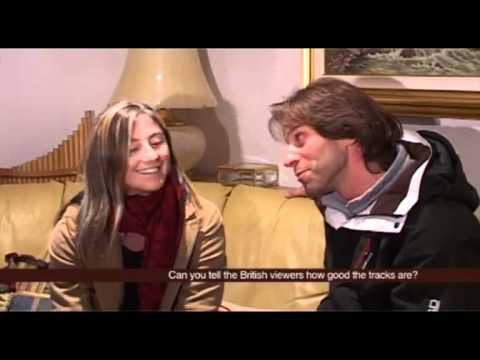 Arianna Follis with Max Manganello in 'ski with Max' TV Travel Show (Pilot Show)
