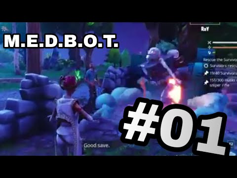 M.E.D.B.O.T Mission In Plankatron. Fortnite Save The World #01