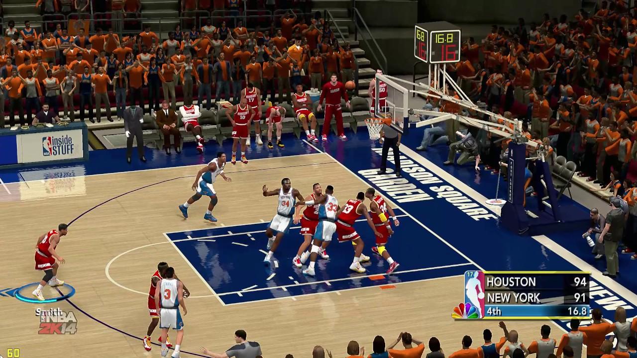 NBA 2K14│Rockets vs Knicks │1994 NBA Finals│The Dream Game Winner!!! - YouTube