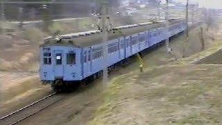1981年 大糸線を走っていた列車たち