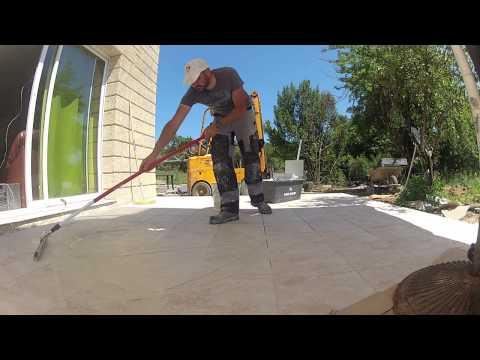 Comment poser un ragr age funnydog tv for Poser du carrelage sur une terrasse en beton
