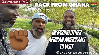 Back From Ghana Jay Has A Candid Conversation with Two African American Men About Africa In Bmore