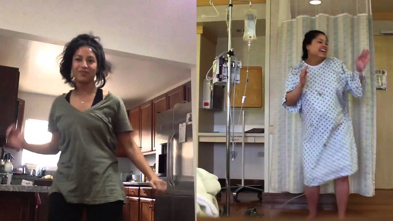 Charnella dances the Wobble before going into labor - YouTube
