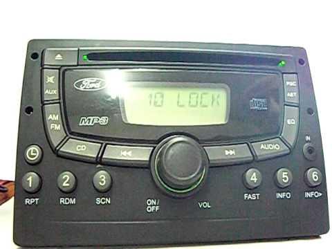Rádio original Ecosport Ford  modelo CCL  10 lock