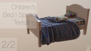 Children's Bed | Speed Texturing | Part 2/2 (Quixel Suite, Photoshop)