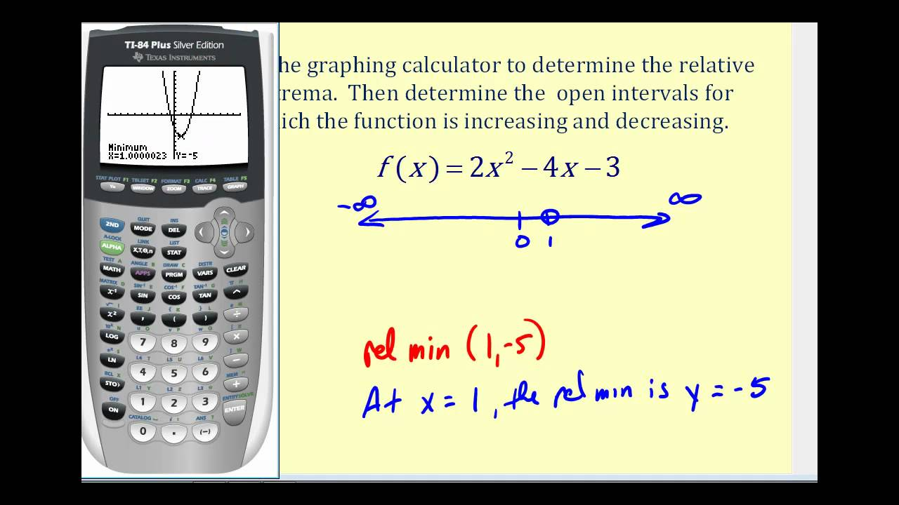 Determine Where a Function is Increasing and Decreasing - YouTube