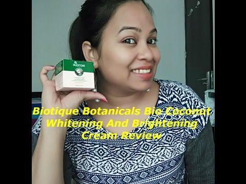 Biotique Botanicals Bio Coconut Whitening  And Brightening Cream Review