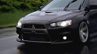 Mitsubishi Lancer black EVO Vossen тюнинг