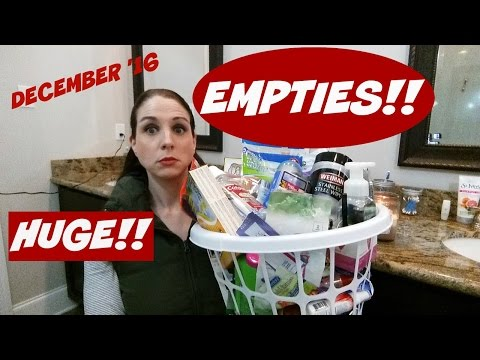 EMPTIES~DECEMBER 2016 PRODUCT REVIEWS~BIGGEST ONE YET!