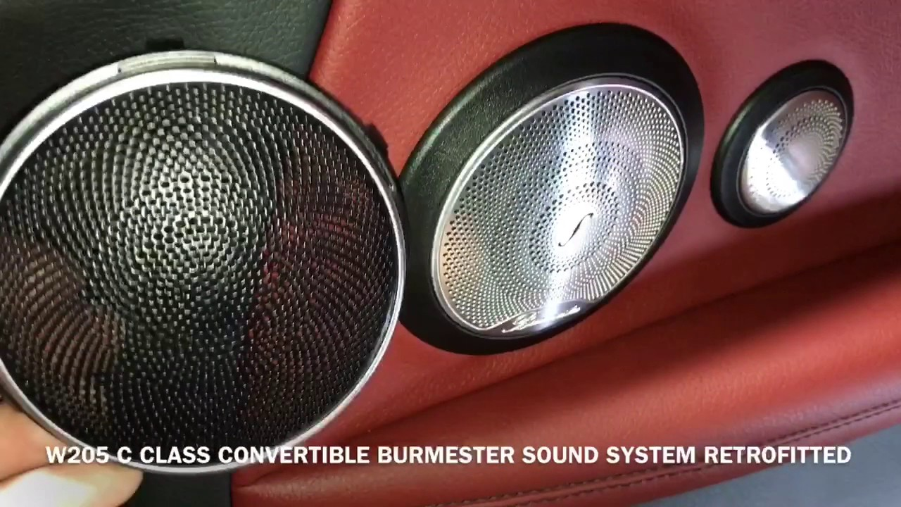 W205 c class convertible burmester sound system for Mercedes benz c300 sound system