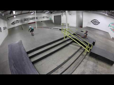 Sierra Kerr skateboarding girl age 9. Transworld skatepark