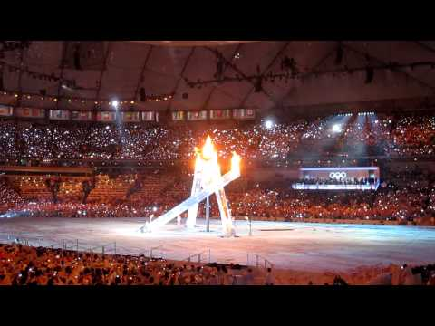 Vancouver 2010 Olympic Cauldron Gets Lit!