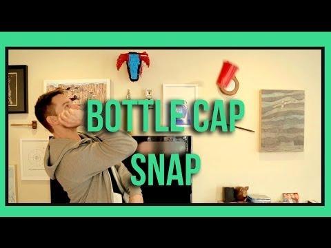 Guy Does Amazing Bottle Cap Snap Tricks