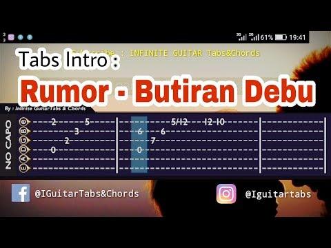 Tab Gitar/INTRO   Rumor Butiran Debu Guitar Tutorial