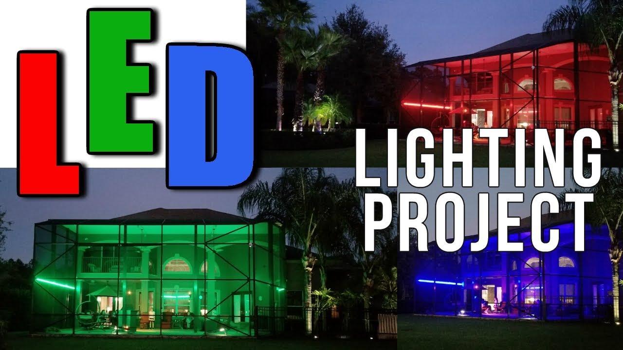 led lighting patio pool cage weatherproof outdoor lighting