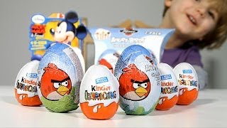Angry Birds BIG Eggs 2Pac and 4pack of Kinder Surprise Mickey Mouse Eggs