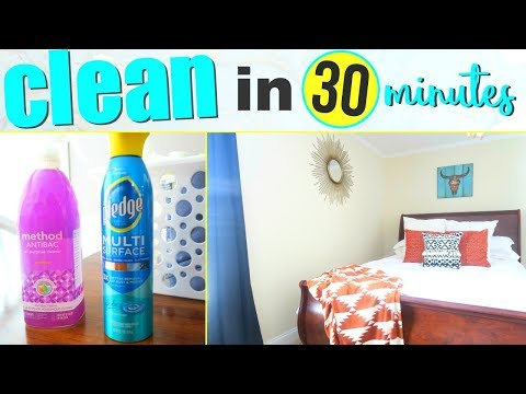 HOW TO CLEAN YOUR HOUSE FAST! CLEAN WITH ME | SPEED CLEANING TIPS | Page Danielle