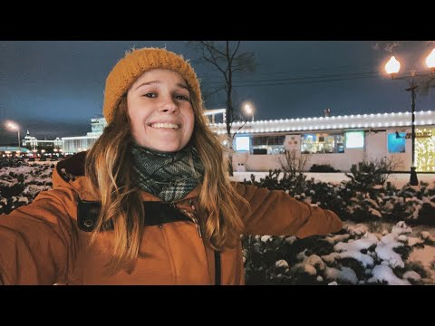First Snow in Moscow | Walk Through Snowy Moscow City \ Winter in Russia 2020-2021