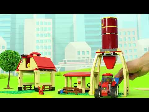 Fire Truck, Trains, Tractor, Excavator, Garbage Trucks, Police Cars & Lego Toy Vehicles For Kids