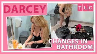 Darcey Changes in the Airport Bathroom | 90 Day Fiancé: Before the 90 Days