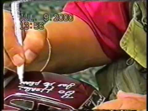 Bo Hopkins Signing the Ertl American Graffiti 51 Mercury