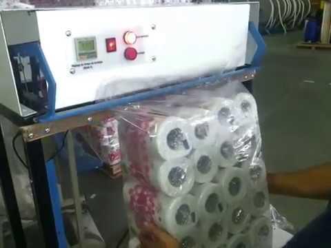 machine emballage soudage film plastique youtube. Black Bedroom Furniture Sets. Home Design Ideas