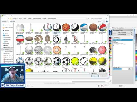 TRW Live Template Editor Design Wizard v4 Tutorial