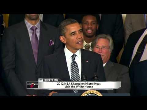 2012 NBA Champions Miami Heat Visit President Obama