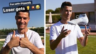 Filming with CR7? & adidas Pyro Storm Pack Unboxing (Livestream)