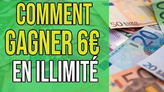 Comment Gagner 6€ en illimité sur internet avec cette méthode (Argent En Ligne)