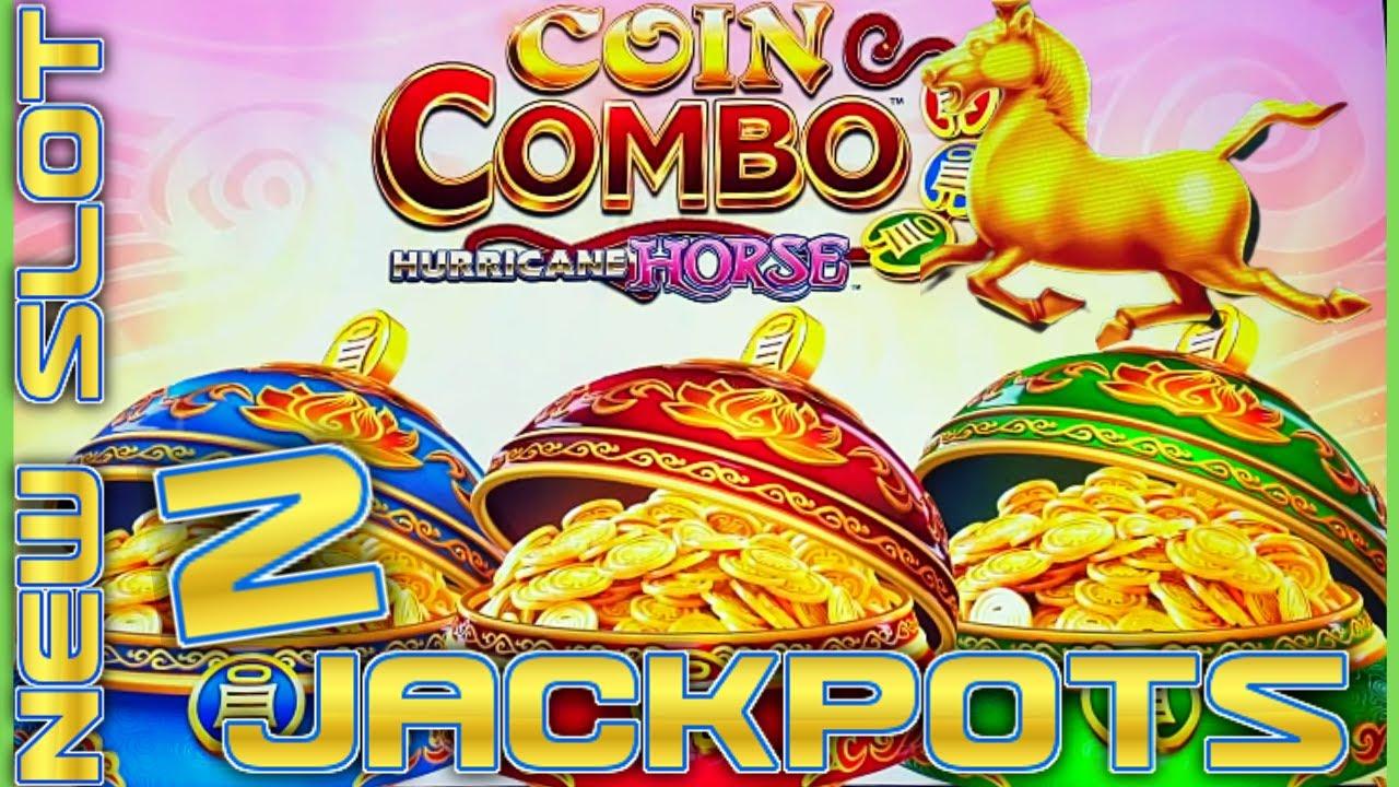 NEW SLOT ⭐️Coin Combo Hurricane Horse (2) Handpay Jackpots ~ $38 Bonus Round Slot Machine Casino
