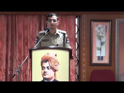 Deputy Commissioner of Police Central Zone Hyderabad Speaking in the Institute of Human Excellence