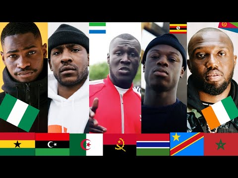 Popular UK RAPPERS with AFRICAN heritage- Stormzy, Headie, A