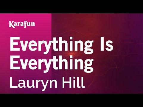 Karaoke Everything Is Everything - Lauryn Hill *