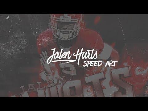 SEC Football Speed Art - Jalen Hurts