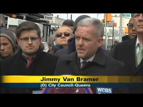 Council Member Van Bramer & LaGCC Student Call On DOT To Address Deadly Traffic Conditions in LIC
