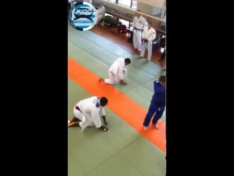 Ilias Iliadis & Teddy Riner practicing in Kodokan-TOKYO 2011