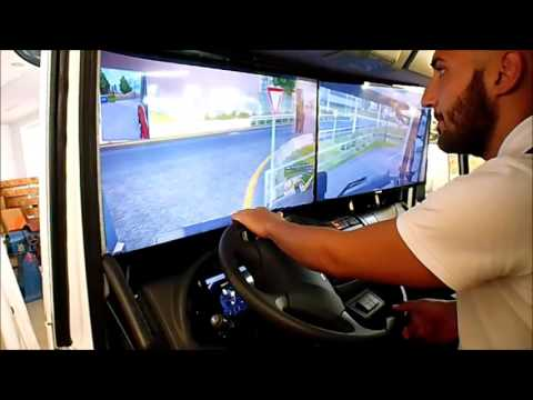 Euro Truck Simulator 2 inside Real Truck Cab