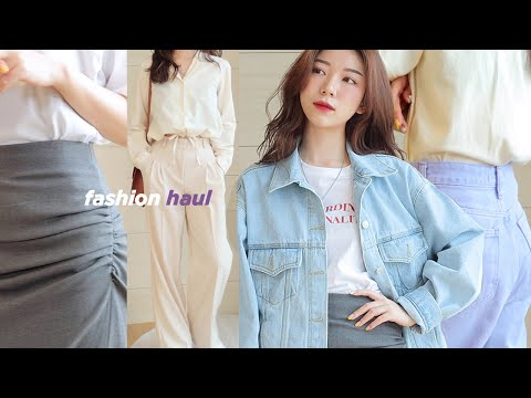 봄 패션하울🌼•16 items. S/S fashion haul (취향저격 쇼핑몰들/라룸,모던티지,데미안무드,루에브르,더페이퍼룸,앤아더스토리즈,h&m) | about jooha