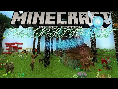 how to go to the twilight forest in minecraft pe