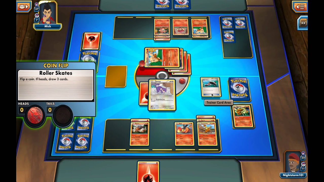 Pokemon Trading Card Game Online  2nd battle against