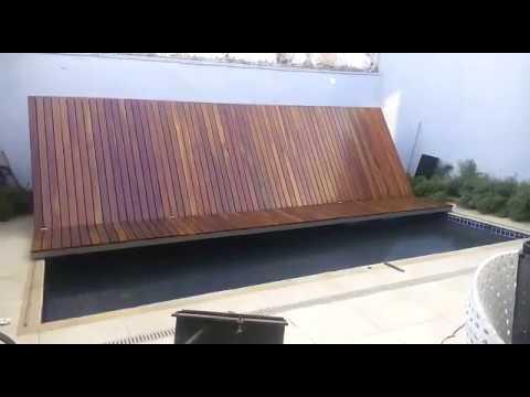 Prueba automatizacion deck cubre pileta doovi Como hacer un cubre piscinas