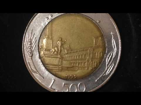500 Lire Coin- Italy Dated 1991
