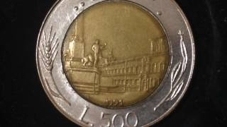 500 Lire Coin Italy Dated 1991 You