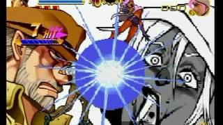 Repeat youtube video JoJo's Bizarre Adventure - All Characters' super moves with DOWN! flashes