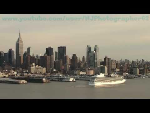 Oceania Cruises' Marina Departs New York  (April 3, 2011)