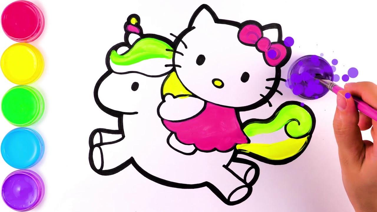 Hello Kitty, учитесь рисовать и раскрашивать для детей ...