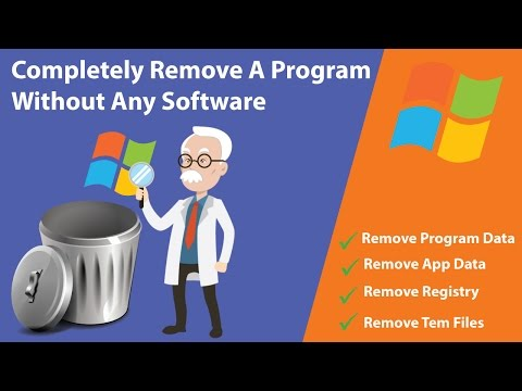 Completely Uninstall And Remove A Program Without Any Software   100% Delete A Software   Hindi