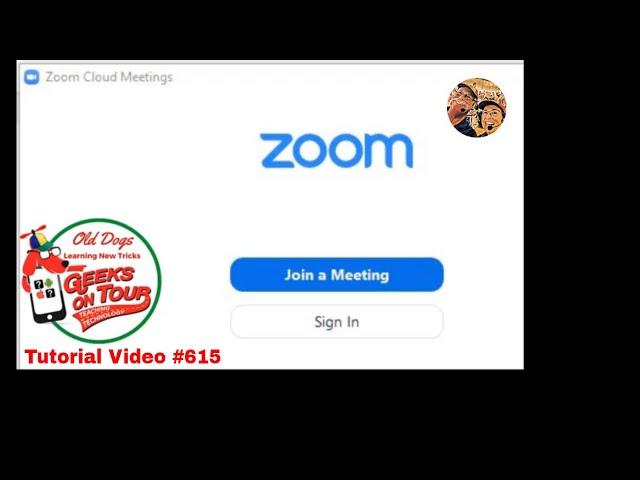 Basic Zoom meeting controls Tutorial Video 615